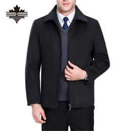 Autunno-2016 nuovo inverno di marca Giacche e cappotti Casual Zipper uomo  giacche di lana Cappotti caldi giacca da neve Mens Cashmere Soprabito 4XL  3XL 2333470eeeb