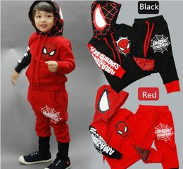 $enCountryForm.capitalKeyWord NZ - 2016 autumn winter boy long sleeve set Children Tracksuit kids clothing suit boys and girls hoodie coat+boys trousers pants Spider-Man set