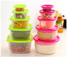 2017 Kitchen Storage Containers Set 48set 5Pcs Set Multifunction  Transparent Sealed Crisper Set Round Square Plastic