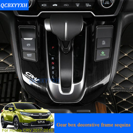 Gear Doors Australia - Car Styling Gear Box Decorative Frames Sequins For Honda CRV 2017 2018 Internal Decorations Stickers Auto Door Interior Frame