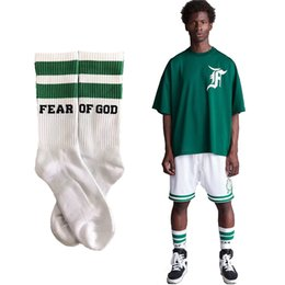 FEAR OF GOD 1987 Stripe Basketball Socks FOG Harajuku Cotton Skateboard Hip Hop High Street Sports Midtop Socks HFWZ001 on Sale