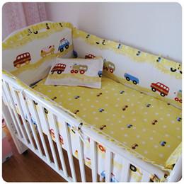 $enCountryForm.capitalKeyWord Canada - Promotion! 6PCS crib cot set nursery bedding set baby bed (bumpers+sheet+pillow cover)