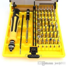 Cell Phone Repair Tool Sets Canada - 1set High Quality 45in1 Torx Precision Screw Driver Cell Phone Repair Tool Set Tweezers Mobile Kit 80353