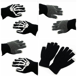 $enCountryForm.capitalKeyWord Canada - Skeleton Touch Screen Gloves Smart Phone Tablet Touch Screen Gloves Winter Mittens Warm Full Finger Skull Gloves OOA2960