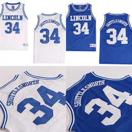 f1406b2541b3 High Quality Mens Jesus SHUTTLESWORTH  34 Lincoln He Got Game Movie  Basketball Jersey Blue 100% Stitched Basketball Jerseys