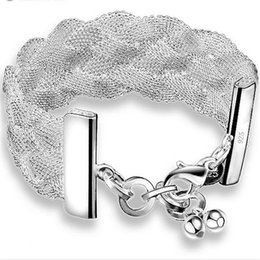 Großhandel Gesundes Balancensilber überzog Charme Armband-Art- und Weiseschmucksachen 925 silbernes Armband YDHS101 Freies gesponnenes Armband 0pcs / lot des Verschiffens 1Net