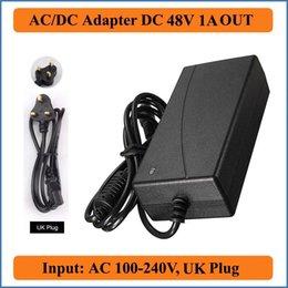 48V 1A AC DC Adapter UK Stecker AC 100-240V Konverter Adapter zu DC 48V 1A 48W LED Netzteil Ladegerät für LED Lichtleiste