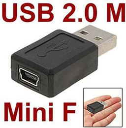 mini usb b female connector 2019 - Wholesale-Wholesale 50pcs lot USB 2.0 A type male to Mini 5pin USB B type 5pin female Connector Adapter convertor cheap