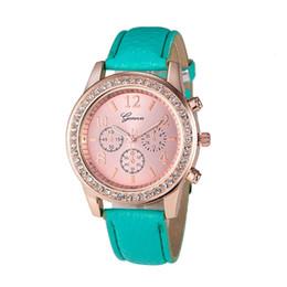 Chinese  2016 Fashion brand women watch high quality Lady pu Leather Band Analog Geneva Roman Quartz Wrist Watch Lady Dress Watch Well manufacturers