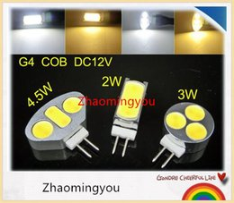 G4 Energy Saving Bulb Canada - Free shipping G4 DC12V 2W 3W 4.5W COB LED Bulb,Energy-saving LED spotlight lamp,White,Warm White,10pcs lot