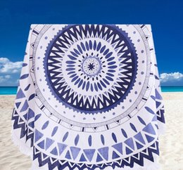 new 20 patterns large cotton round beach towel with cotton tassel 150150cm thickened soft knitted bath towel for adults cheap beach towels for men