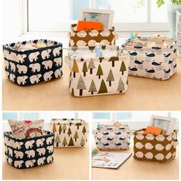 $enCountryForm.capitalKeyWord Canada - Storage box desktop tissue finishing box storage basket cosmetic cotton fabric multifunctional sundries basket laundry basket TT212