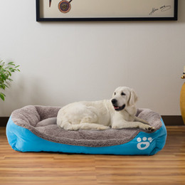 warm winter bedding 2019 - 8 Colors Pet Dog Bed Warming Dogs House Soft Material Nest Baskets Fall and Winter Warm Kennel For Cat Puppy Plus Size S