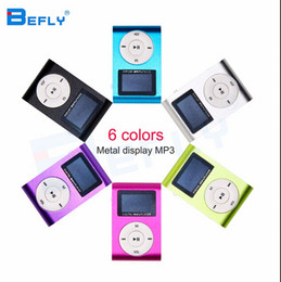 Heiße Markierung Mini-USB-Klipp-MP3-Player-LCD-Bildschirm-Unterstützung 32GB Micro SD TF Karte Digital-Mp3-Spieler kommen mit Kopfhörer USB-Kabel im Angebot