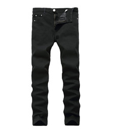 $enCountryForm.capitalKeyWord NZ - New Arrival Jeans For Men Cheap Jeans China Straigh Regular Fit Denim Jeans Pants Classic Elastic Black Colour Size 28 To 42