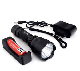 C8 Cree xm l t6 online shopping - High Power UltraFire C8 Cree XM L T6 LED LM Mode Flashlight Torch light mah Rechargeable battery Charger