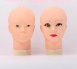 $enCountryForm.capitalKeyWord Canada - New arrival 2019 cheap bald female model head mannequin for wigs human hair display makeup massage training head human hair QM 022