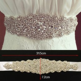 Luxury Rhinestone Beaded Wedding Dress Canada - Explosion models wedding dress wedding accessories   bridal girdle belt   hand-stitched luxury diamond trade in Europe and America