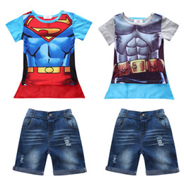 $enCountryForm.capitalKeyWord Canada - 2017 cartoon boy cloak cute t shirt denim shorts toddler tees boy infant clothes sets jeans shorts short sleeve summer clothes
