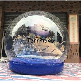 Natal Show Bola, gigante inflável globo de neve, Inflável Anunciar Mostrar Bola PVC Lona, inflável natal cúpula balão