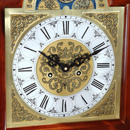 European Style Living Room Floor Clocks Copper Movement Wood Mechanical Clock Pendulum Li Zhong Feng Shui
