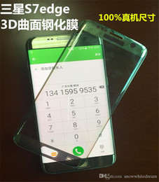 3d Color Glasses Canada - Transparent Color Tempered Glass For Samsung Galaxy S7 S7 Edge G9350 G935 9H Hardness 3D Curved Surface Full Body Screen Protector Film