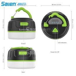 Battery fluorescent light online shopping - Magnet Camping Lantern mah Ultra Bright Rechargeable LED Lamp Tent Light Portable External Battery Pack Power Bank IP65 Waterproof