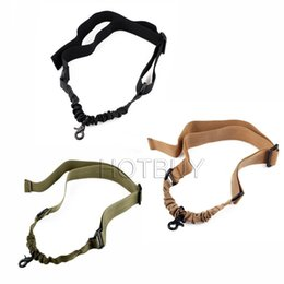 TacTical single poinT sling online shopping - NEW Nylon Multi Function Adjustable Tactical Single Point Bungee Rifle Gun Airsoft Sling Hunting Gun Strap
