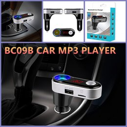 12v 5v 2a Charger Canada - Handsfree Wireless Car BC09B Bluetooth Kit Car Charger Dual USB Port 5V 2A MP3 Player U Disk FM Transmitter For Mobile Phone
