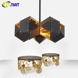 FUMAT Pendant Lights Modern Art Design Light Fixture Store Dinning Room Interior Hanging Metal Bathroom