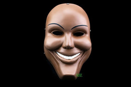Human Face Masks NZ - Human Smiling Face Masks Halloween Movie The Purge Masquerade Party Props Adults Smile Resin Mask Cosplay Costume Party With Box