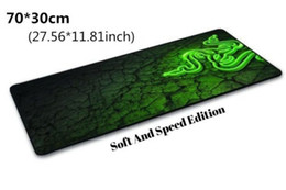 goliathus razer speed mouse pad UK - Wholesale- Hot Large 700*300*3MM Rubber Razer Goliathus Mantis Speed MousePad Mouse Pad Mat