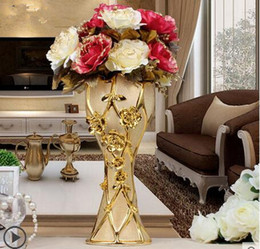 European Ceramic Flower Vase Decoration Decoration Floor Home Furnishing TV  Cabinets In The Living Room Decoration Part 97