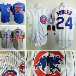 8b671ec9551 2016 new cheap chicago cubs jerseys 24 dexter fowler jersey authentic  stitched baseball ...