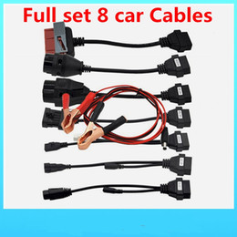 Cdp Pro For Cars NZ - OBD2 Cables For TCS CDP Pro Cars Cables Diagnostic Interface Tool Full set 8 Car Cables Free CDP ds150e Scanner