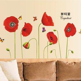 Red Flower Kids Wall Decals Online Red Flower Kids Wall Decals - Yellow flower wall decals