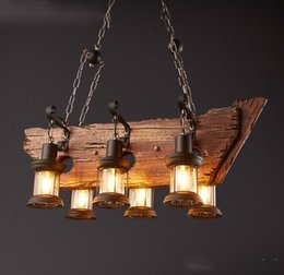 wood pendant light fixture loft vintage style creative wood art lighting fixture bar coffee house