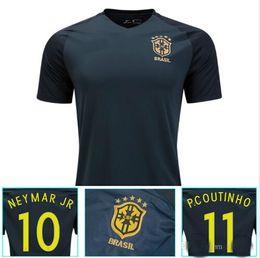 New Brazil jersey 2017 2018 Soccer jersey Camisa de futebol Brasil Neymar  Oscar home away Adult football Shirt thai quality ... 456c13221