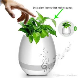 China Smart Bluetooth Music Garden Bonsai Music Flower Pot Night Light Smart Touch Planters & Pots Lamp Rechargeable Wireless Bluetooth Planter supplier universal rechargeable bluetooth speakers suppliers