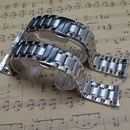 $enCountryForm.capitalKeyWord NZ - Free Curved End Fashion Stylished Watchband solid links Silver and gold Watchband bracelet 14mm 16mm 18mm 19mm 20mm 21mm 22mm free shippping