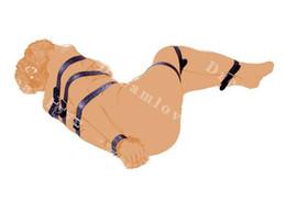Vente en gros Classique verrouillable sangles de bondage en cuir 7 tailles ensemble boucles de verrouillage engins de bondage sexe pour hommes et femmes unisexe