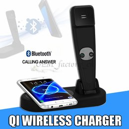 SamSung handSetS online shopping - Wireless Charger for Samsung Note Fast QI Charging Pad with Bluetooth Handset for Galaxy S8 Plus S7 Edge and All Qi Enabled Devices