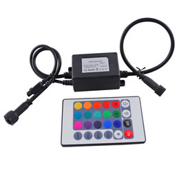 $enCountryForm.capitalKeyWord Australia - Infrared RGB Controller 72W IP67 Waterproof Mini LED Controller with IR Touth Remote Control For RGB LED Bulb Lights DC12V with 24 Keys