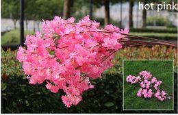 $enCountryForm.capitalKeyWord Canada - 10pcs lot Artificial 1 Meters Long Elegant Cherry Blossom Wreaths Home Living Display Wedding Decoration Supplies
