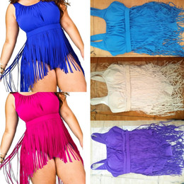 Discount big push up swimwear - PrettyBaby New 2016 Women Summer Dress Long Tassel One Piece Swimsuit Plus Size Fringe Swimwear Women Push Up Bathing Su