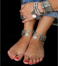 $enCountryForm.capitalKeyWord Canada - 3pcs Hot Gypsy Antique Silver Turkish Coin Anklet Ankle Bracelet Beach Foot Jewelry Ethnic Tribal Festival Wholesale