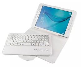 Galaxy Tab Keyboard Pink Canada - 20PCS T350 keyboard case Detachable Bluetooth Keyboard Leather Case For Samsung Galaxy Tab A 8 T350 T351 Tablet Cases
