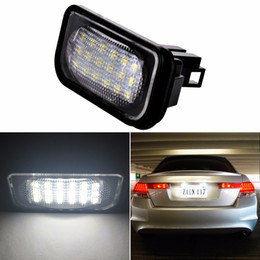 mercedes license plate 2019 - Car LED License Plate Lights 12V For Mercedes W203 4D C-Class AMG Benz Accessories SMD3528 LED Number Plate Lamp Bulb Ki