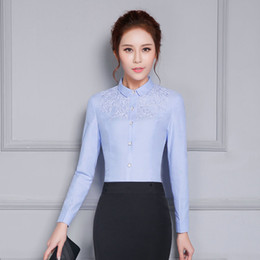 6e524d79a1060 korean OL style long sleeve women shirt elegant embroidered blusa feminina  slim chiffon blouse formal office ladies work wear