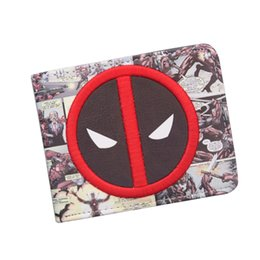 $enCountryForm.capitalKeyWord NZ - DEADPOOL WALLET Cool DC Anime Wallet Bifold For Teenager Boy Girls Dollar Bag Credit Card Holder Leather Cartoon Wallet Student Fans Purse
